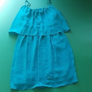 FOREVER 21 DRESS SHORT LE TEAL NWT